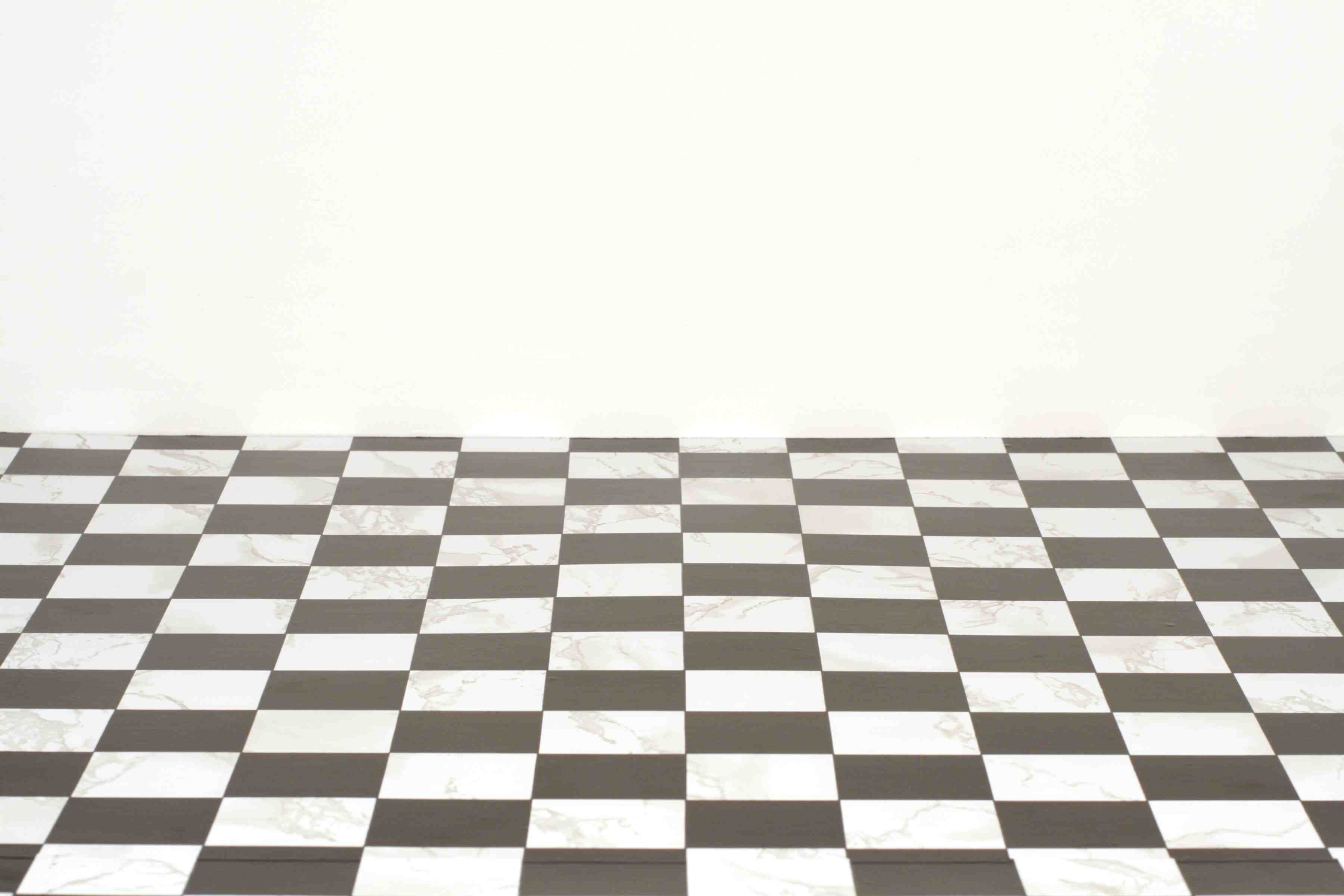 Shana lutker a path checkered with good and evil floor for Black and white check floor
